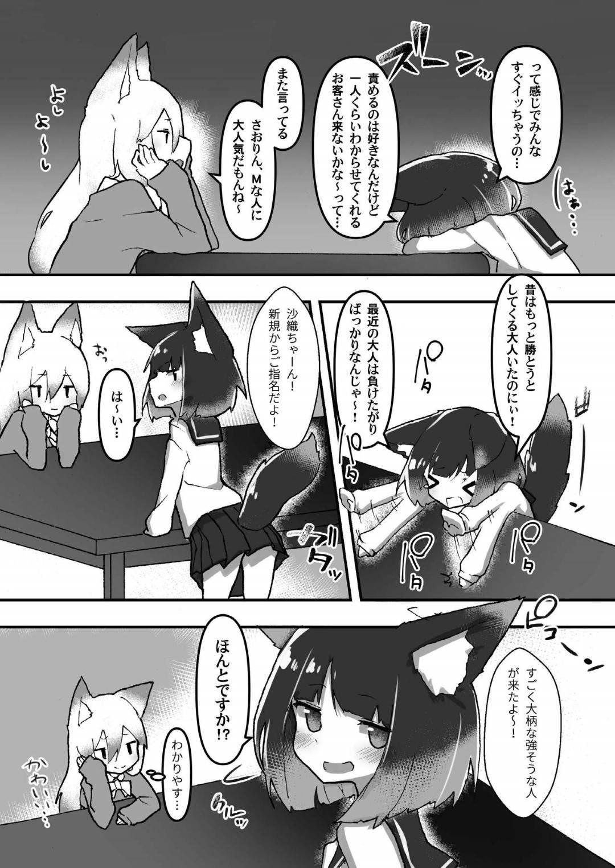 【エロ同人誌】日本のどこかにある狐娘ばかりが働く珍しい風俗店の小柄な狐娘…責めるのが好きな彼女はお客さんがすぐに射精してしまうことが悩みだった!【オナニズム (エロッチ):制服ロリ狐娘はわからされたい】